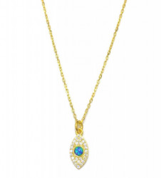 Opal Blue Wholesale Turkish Evil Eye Necklace