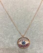 Rose Gold Evil Eye Turkish Wholesale Necklace Silver 925
