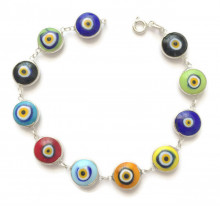 Wholesale Evil Eye Sterling Silver 925 Turkish Bracelet