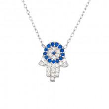 Wholesale Hamsa Design Turkish  Evil Eye Silver Necklace