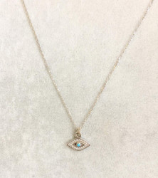 Wholesale Mini Evil Eye Silver 925 Turkish Necklace