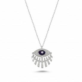 Wholesale Turkish Dark Blue Evil Eye Necklace