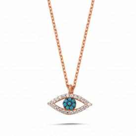 Wholesale Turkish Evil Eye Necklace Rose Gold Silver Pendant