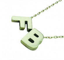 Letter F and B Design Turkish Wholesale Silver Necklace