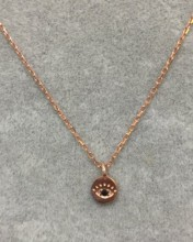 Mini Evil Eye Wholesale Necklace Rose Gold Plated Pendant