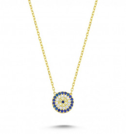 Round Blue Wholesale Turkish Evil Eye Necklace
