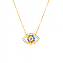 Wholesale Turkish Evil Eye Silver Yellow Gold Necklace