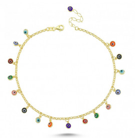 Anklet Evil Eye Beads Charm Wholesale Turkish Silver