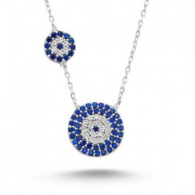 Wholesale 925 Silver Mini Design Turkish Blue Evil Eye Necklace