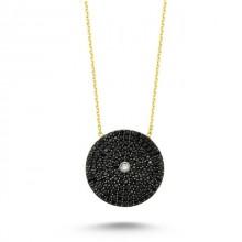 Black Evil Eye Necklace Wholesale Turkish Silver 925