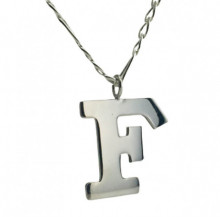 Letter F  Wholesale Sterling Silver Necklace