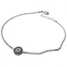 Cz Mini Evil Eye Silver Wholesale Bracelet