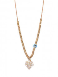 Leaf Design Wholesale Turkish Evil Eye Necklace