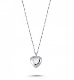 Plain Heart Necklace Pendant Wholesale Sterling 925 Silver