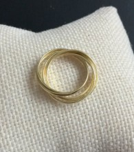 Round Multi Turkish Rings Wholesale Yellow Gold Plated Silver 925