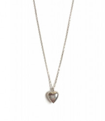 Wholesale 925 Silver Turkish Silver Plain Heart Necklace Pendant
