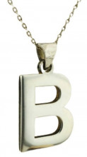 Wholesale Letter Design Silver Necklace