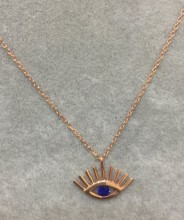 Wholesale Turkish Blue Evil Eye Silver 925 Necklace  Pendant