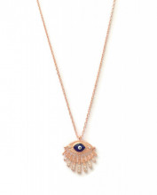 Wholesale Turkish Dark Blue Evil Eye Necklace