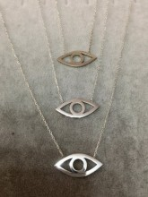 Wholesale Yellow Gold 925 Silver Turkish Evil Eye Necklace