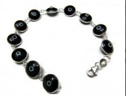 Black Evil Eye Bracelet 925 Silver Wholesale