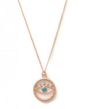Turquise evil eye wholesale necklace