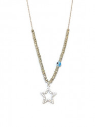 Star Design Wholesale Turkish Evil Eye Beaded Necklace