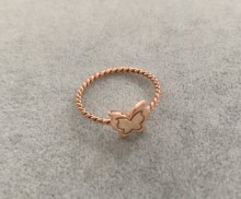 Turkish Rings Wholesale Butterfly Minimal Rose Gold Silver 925