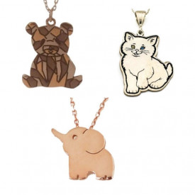 Wholesale Animal Design Silver Necklace Pendant