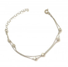 Wholesale CZ Chain Turkish Silver Bracelet