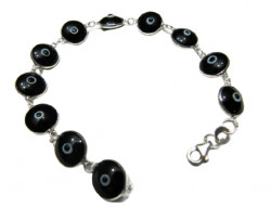 Black Evil Eye Bracelet 925 Silver Wholesale