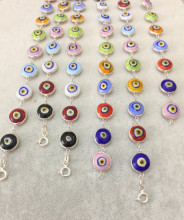 Multicolor Beaded Turkish Wholesale Evil Eye Silver Bracelet
