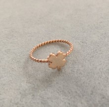 Turkish Rings Wholesale Minimal Clover Design Rose Gold Silver