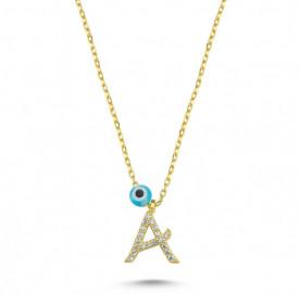 Wholesale Letter A Design Necklace Pendant