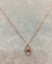 Hamsa Evil Eye Wholesale Necklace Rose Gold Plated Pendant