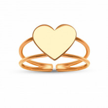 Heart Minimal Rose Gold Wholesale Turkish Rings
