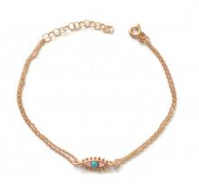 Turquise Blue Chain Wholesale Turkish Silver Bracelet