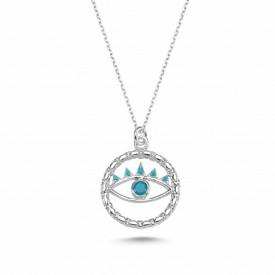 Turquise Blue Wholesale Turkish Evil Eye Necklace