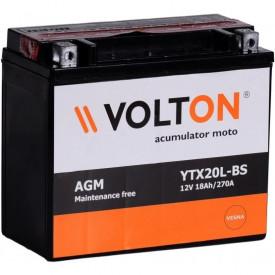 Baterie moto Volton AGM 12V 18Ah, 270A (YTX20L-BS)