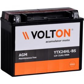 Baterie moto Volton AGM 12V 21Ah, 350A (YTX24HL-BS)