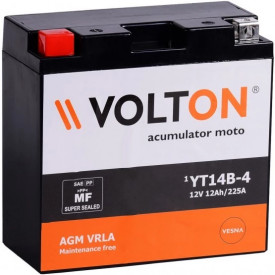 Baterie moto Volton FA 12V 12Ah, 225A (YT14B-4/YT14B-BS)