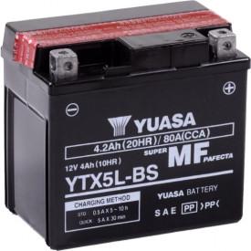 Baterie moto Yuasa AGM 12V 4Ah, 80A YTX5L-BS (CP)
