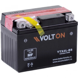 Baterie moto Volton AGM 12V 3Ah, 50A (YTX4L-BS)