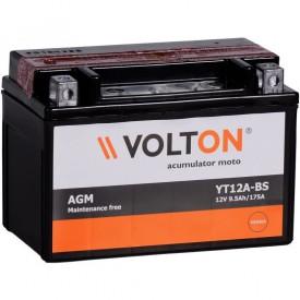 Baterie moto Volton AGM 12V 9.5Ah, 175A (YT12A-BS)