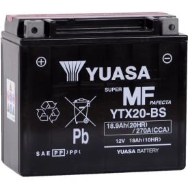 Baterie moto Yuasa AGM 12V 18Ah, 270A YTX20-BS (CP)