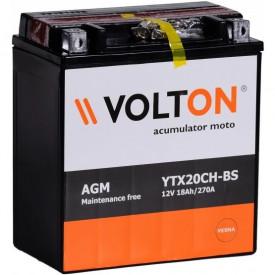 Baterie moto Volton AGM 12V 18Ah, 270A (YTX20CH-BS)