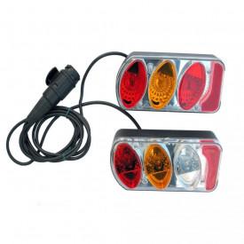 PERUZZO 948 - 2 lampi spate 13 pini pentru suporturi biciclete, complete cu cablu