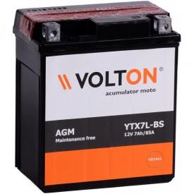 Baterie moto Volton AGM 12V 7Ah, 85A (YTX7L-BS)