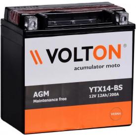 Baterie moto Volton AGM 12V 12Ah, 200A (YTX14-BS)