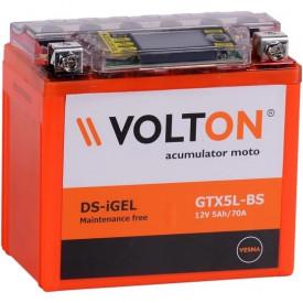 Baterie moto Volton DS-iGEL 12V 5Ah, 70A (GTX5L-BS)